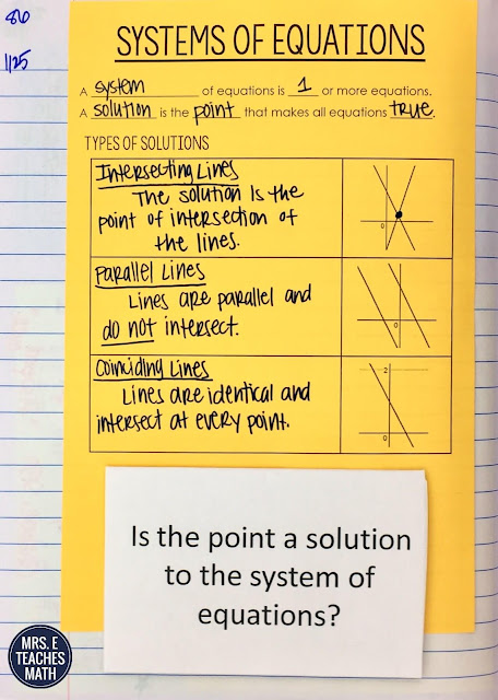 Systems of Equations INB PageTeaching systems of equations in algebra can be fun!  These interactive notebook activities and notes will help high school students organize their thinking.  FREE DOWNLOADS