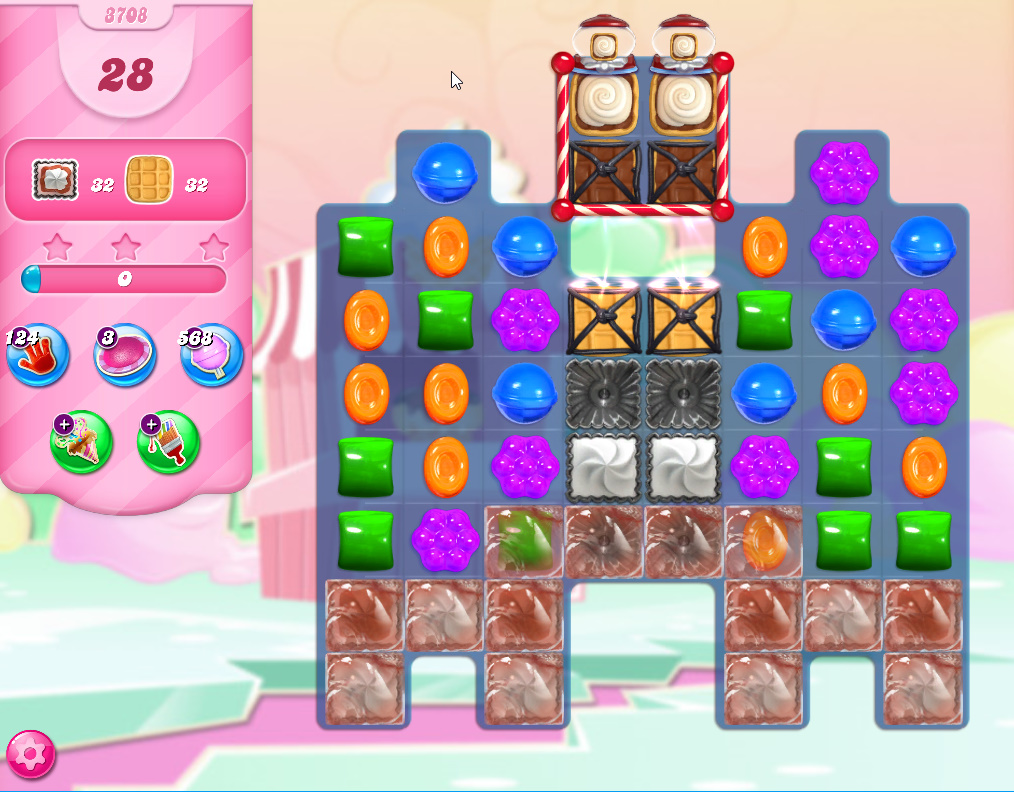 Candy Crush Saga level 3708