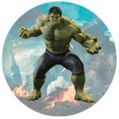 Oblea para tartas Hulk