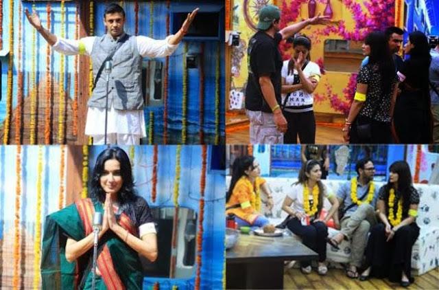 Bigg Bogg house contestants during Rajneeti Task