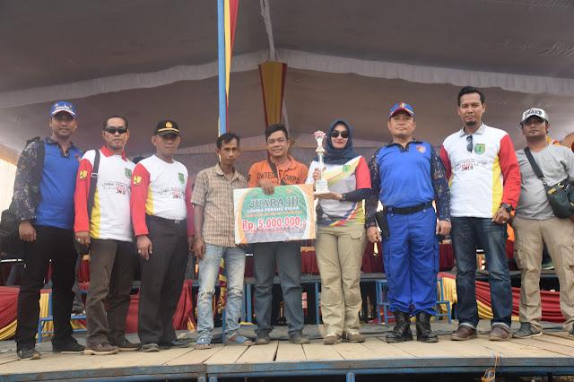 Tim Polres Muba Raih Juara 3 Lomba Perahu Bidar