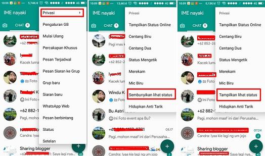 Cara melihats status whatsapp tidak ketahuan