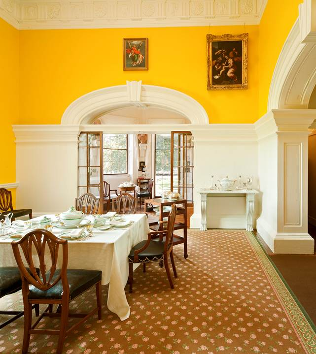Yellow Dining Rooms: The Devoted Classicist: Monticello's New Carpet