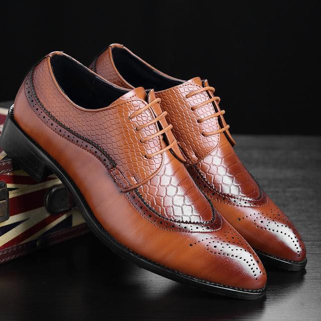 Men's Classic British Style Business Dress Shoes