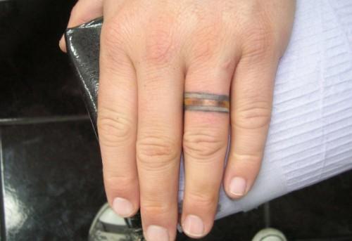 Wedding Ring Tattoos For Men: Wedding Rings For Women: 20 Best Wedding Ring Tatoo Ideas