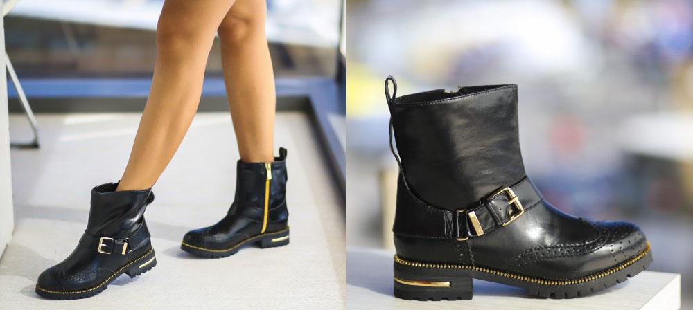 Ghete negre dama ieftine de toamna iarna la moda 2016