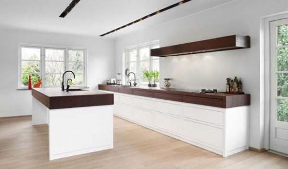 Weiße Küche Dunkle Arbeitsplatte Wandfarbe   8 Lampwork ...