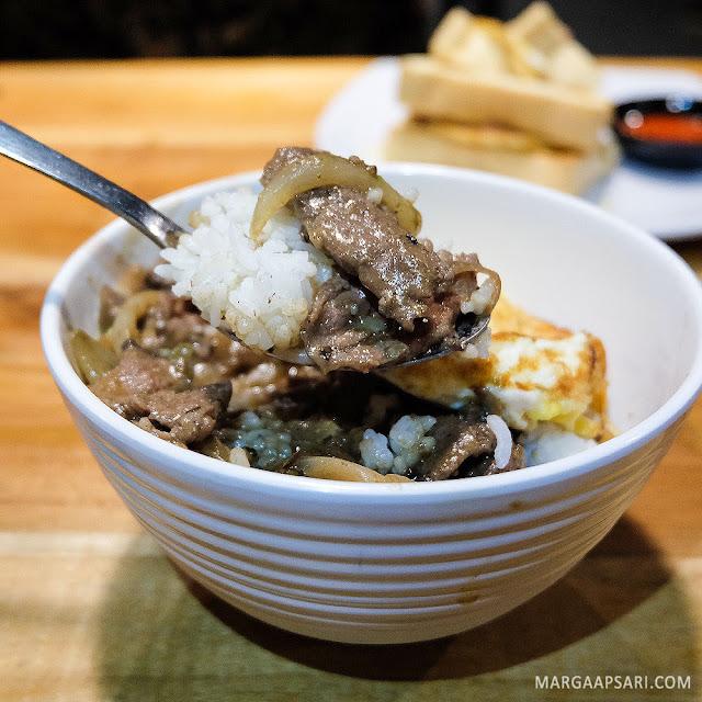 Nasi Wagyu Saus Mushroom Warunk Upnormal