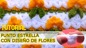 Bellísima Puntada Crochet con diseño de flores / Tutorial