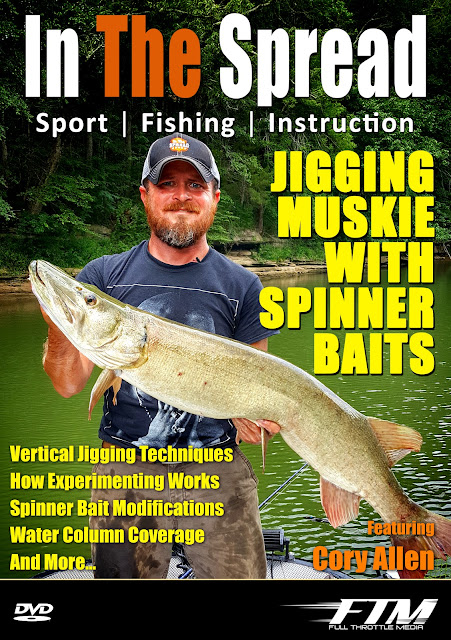in the spread cory allen jigging muskie spinner baits video musky