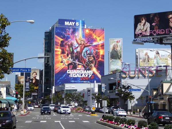 Giant Guardians of Galaxy 2 movie billboard
