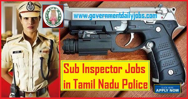 TNUSRB Sub Inspector of Police Online Form 2019 - for 969 Posts