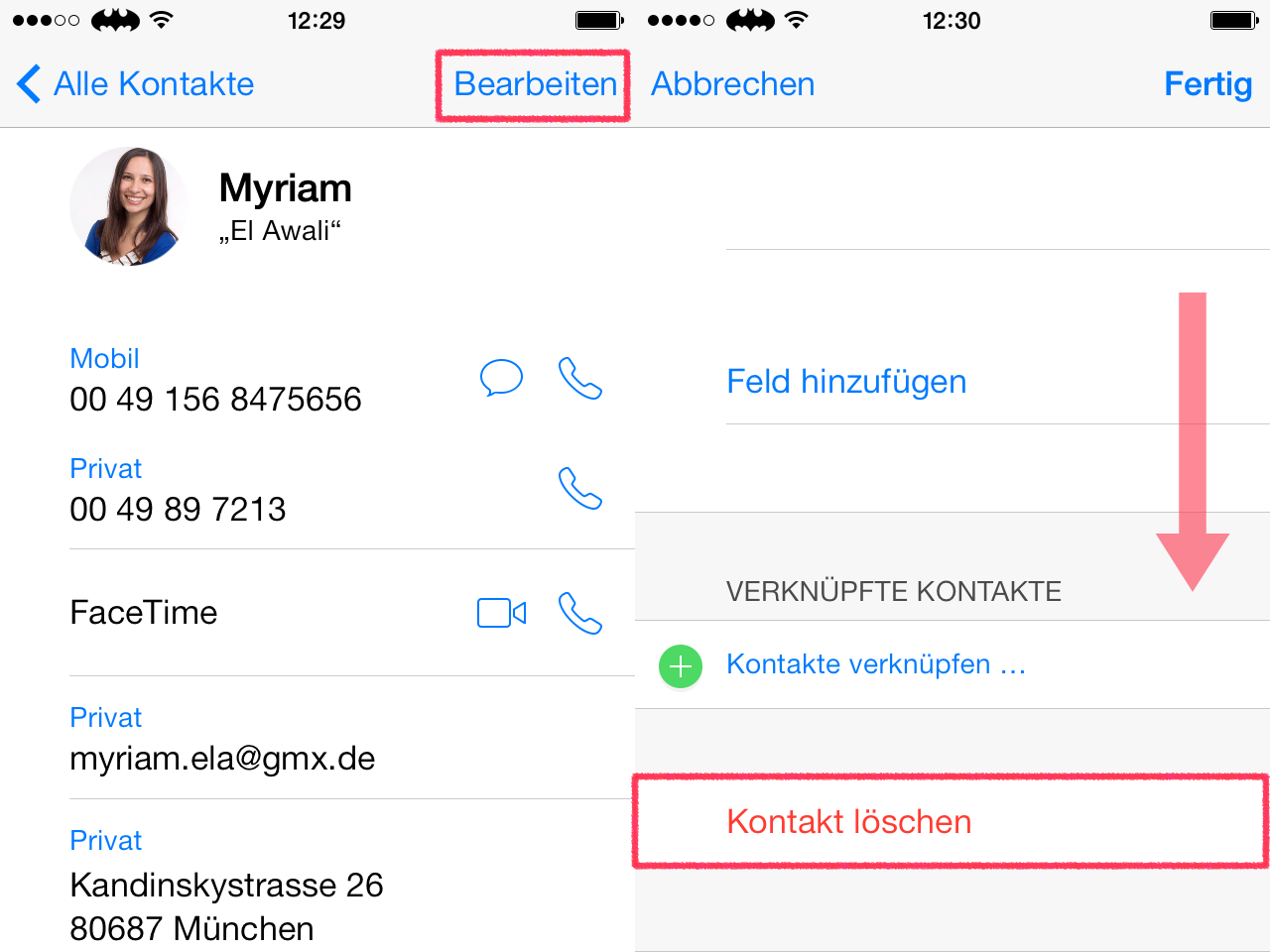 Iphone gesperrte kontakte löschen