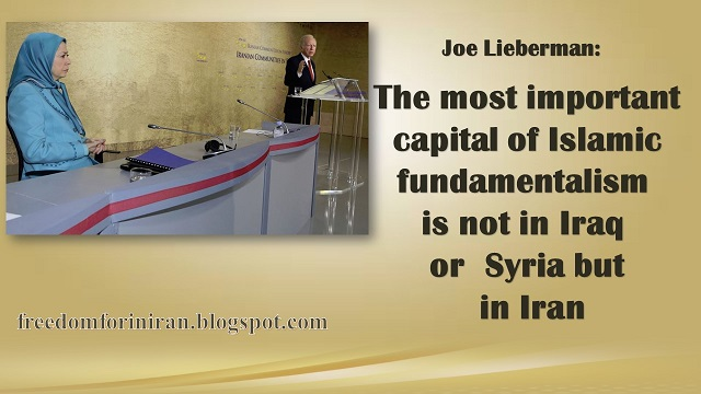 joeLieberman: The most important capital of Islamic fundamentalism is not in #Iraq  or #Syria but in #Iran