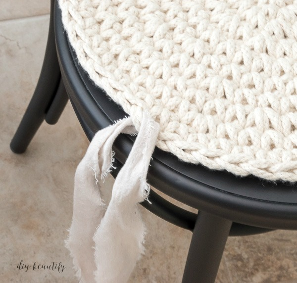 Easy No Sew Round Seat Cushions Diy Beautify