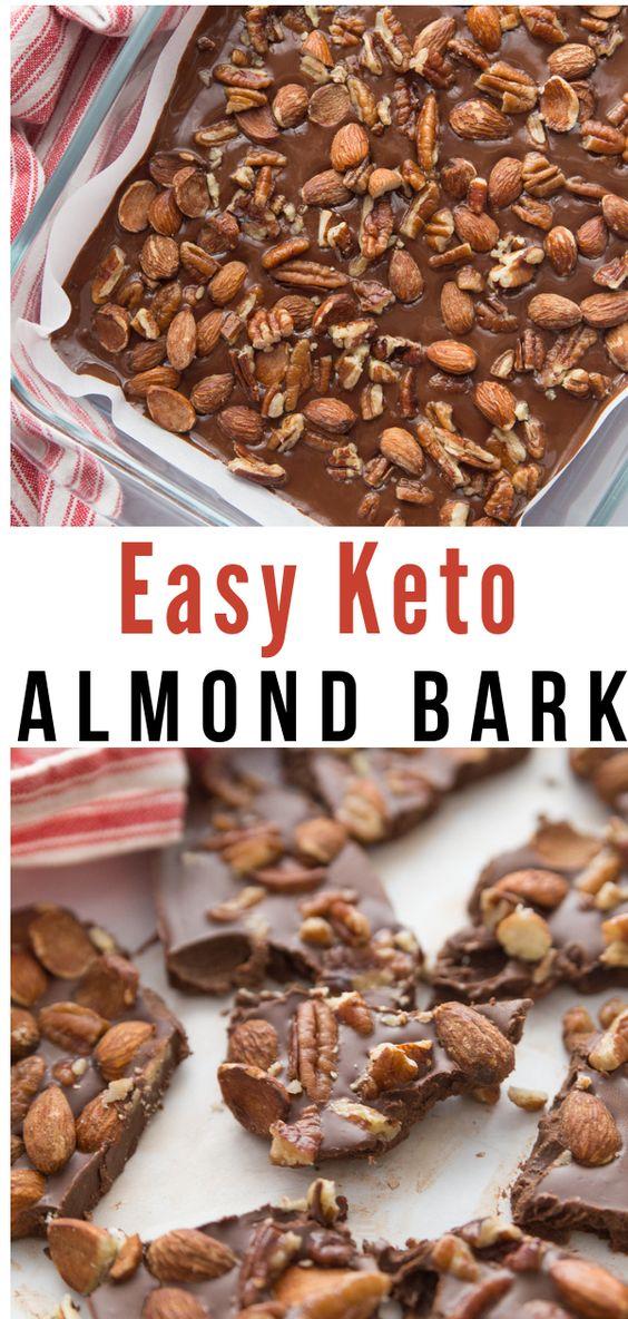 KETO EASY CHOCOLATE ALMOND BARK #Keto #Ketorecipe #Easyrecipe #Chocolaterecipe #Chococookies #Cookies #Almonddark #Almondcookies