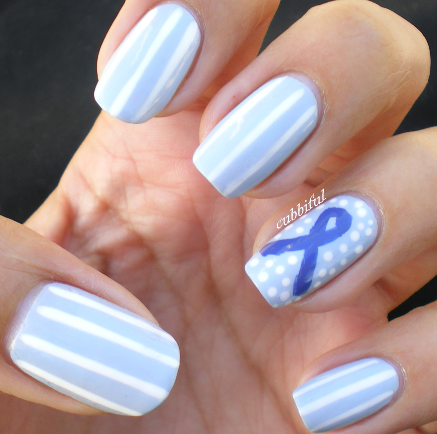 Cubbiful different shades of blue autism awareness nail art here we go prinsesfo Images