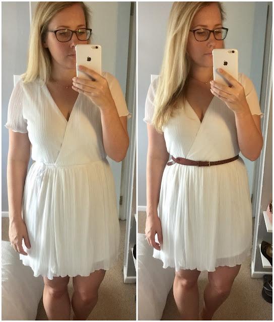 Leith Pleat Surplice Wrap Dress