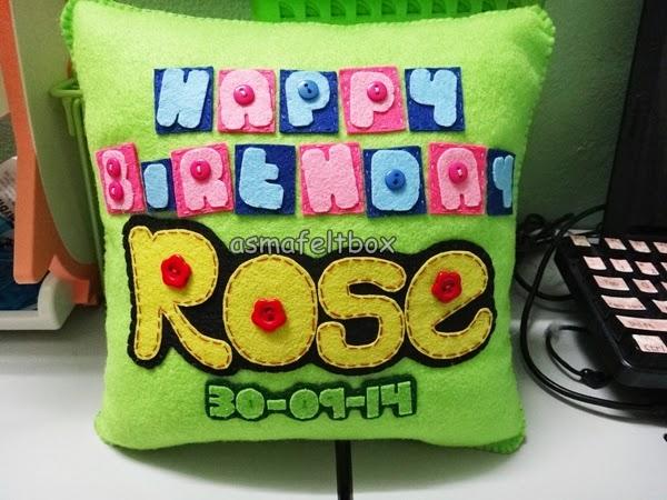 Felt Pillow Birthday Gift