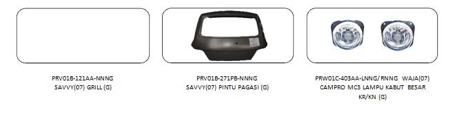 Bodypart Proton Savvy 2005-2007