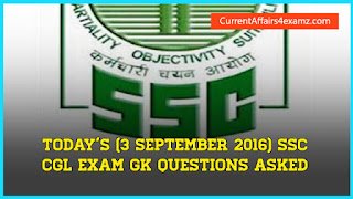SSC CGL 3 September 2016