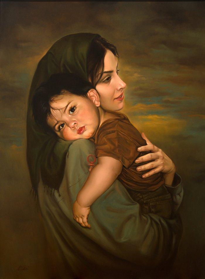 Иранский художник. Mitra Shadfar