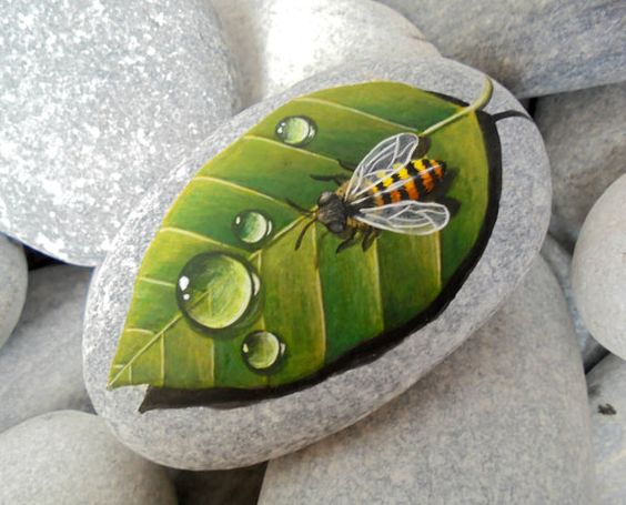 malowane kamienie diy