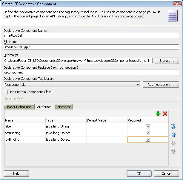 ADF Practice: ADF Declarative Component Example