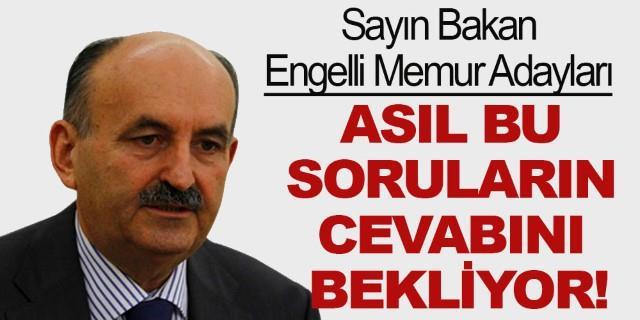Engelli Memur Adayları Mehmet Müezzinoğlu'ndan istediği cevaplar