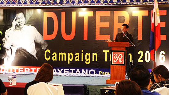 Duterte: No to Campaign Funds from Government Contractors