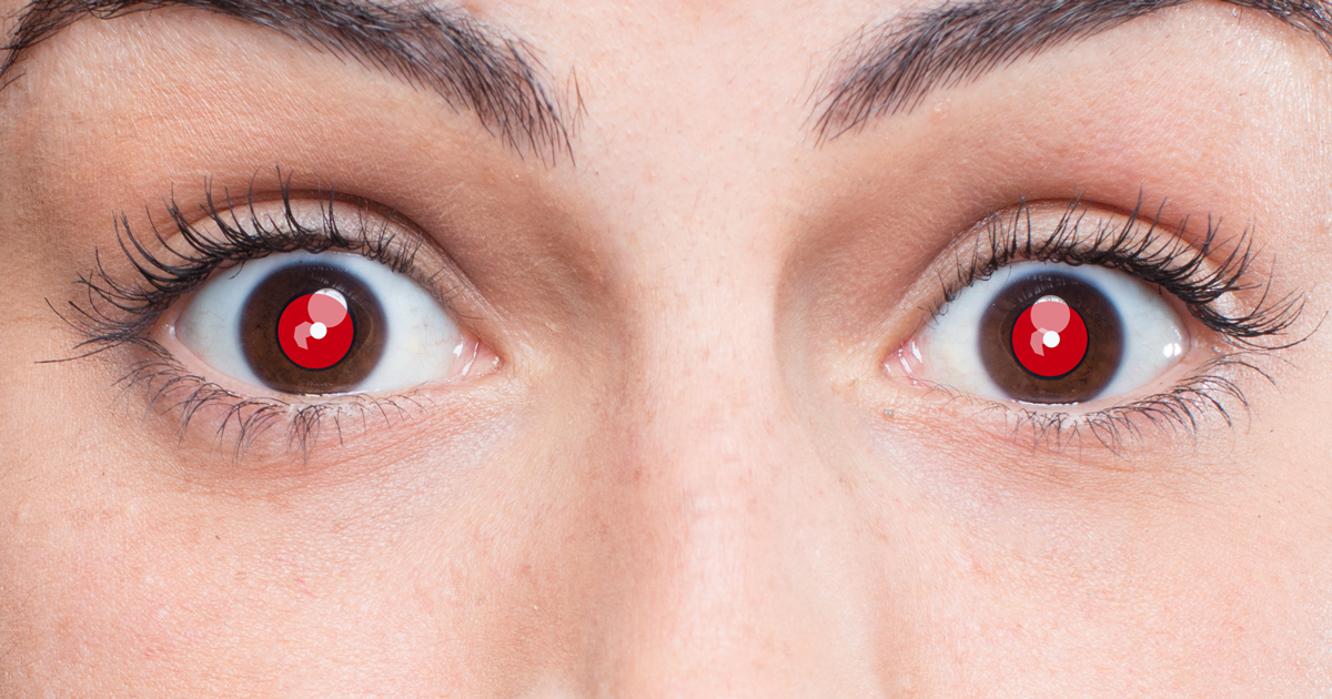 Why Do People Have Red Eyes Eyes In Flash Photographs My Q A Corner