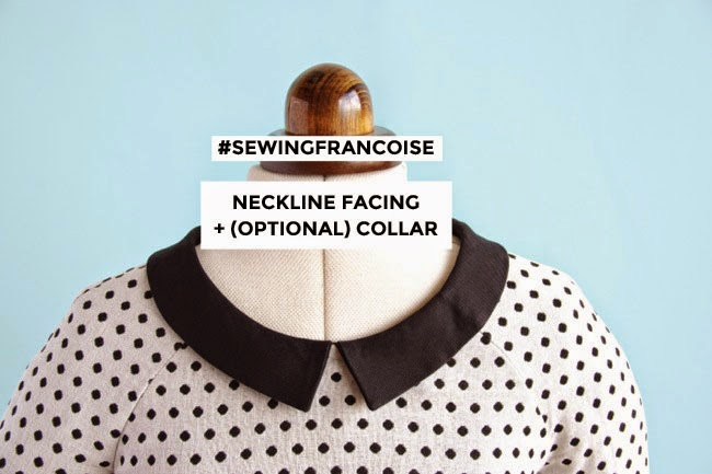 Sew neckline facing + collar