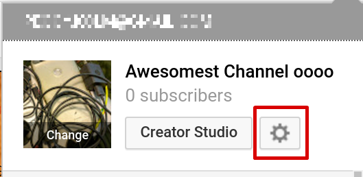 how to change youtube brand account