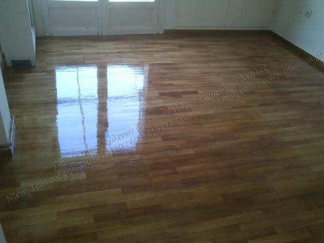 Επισκευή σε ξύλινο δρύινο πάτωμα