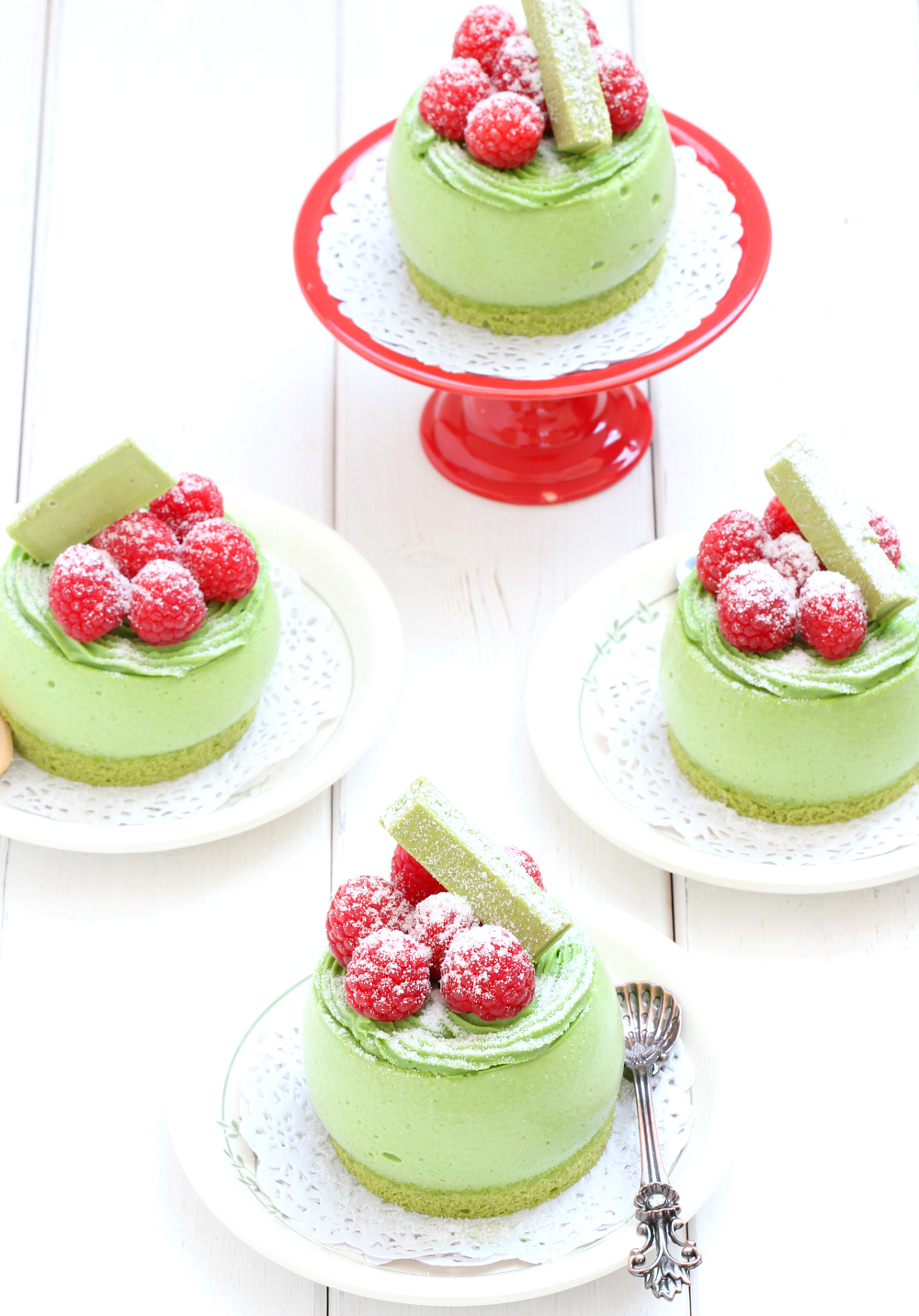 my bare cupboard triple matcha mousse cake. Black Bedroom Furniture Sets. Home Design Ideas