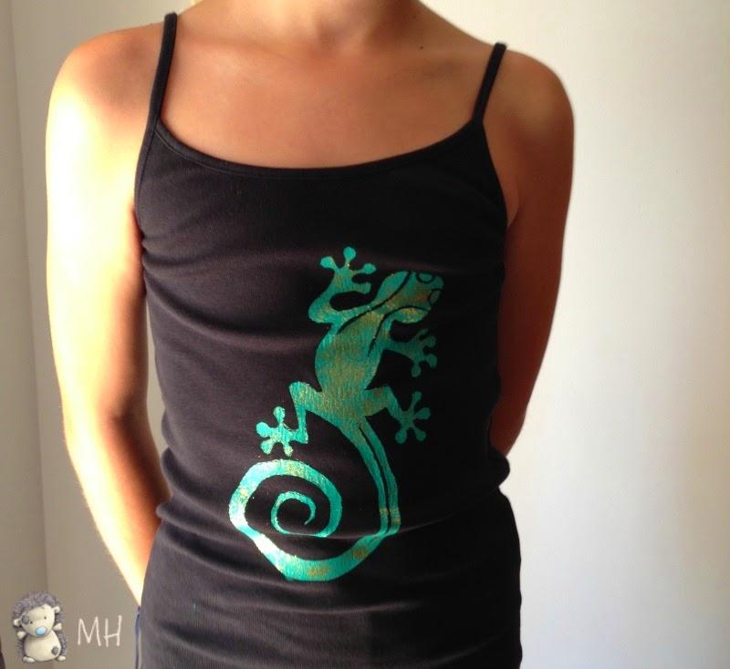 Camiseta de lagartija para niña