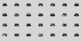 Fitas e Rendas: Como usar emoticons preto e branco no