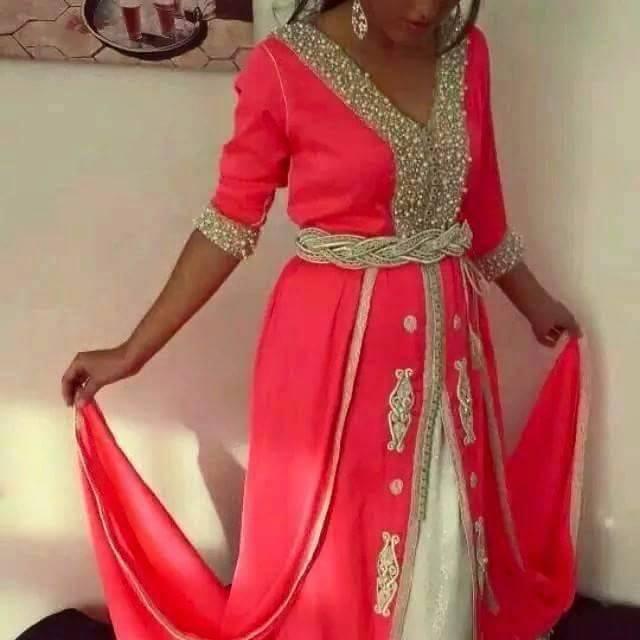 Robes Soirée 2016 9aftan Maghribi Dresses robe Rose 2016. Robes Soirée 2016 Algerien  2017