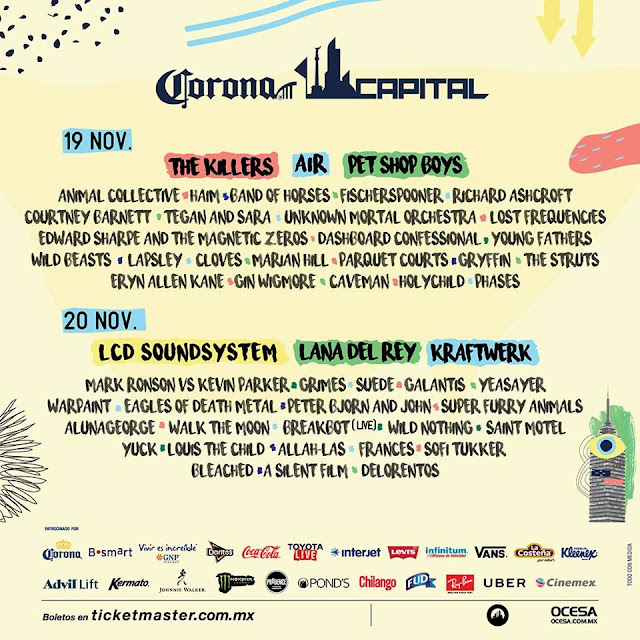 Line-Up por día del Corona Capital