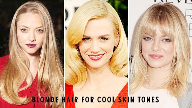 Blonde hair cool skin tone