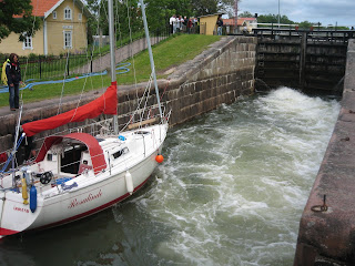 Göta Kanalen -Sluserne ved Sjötorp