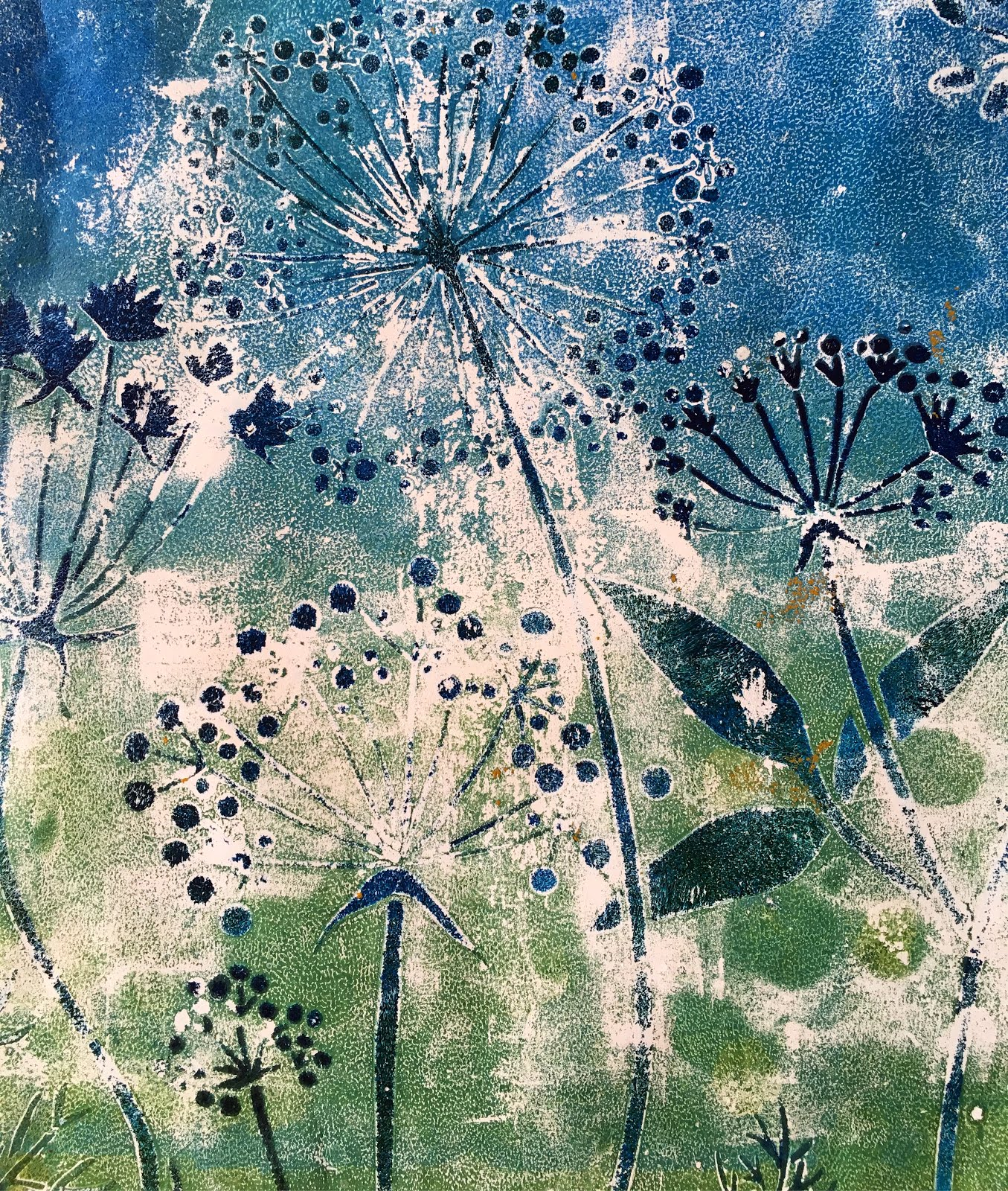 Allowing your paint to dry on your gelli plate