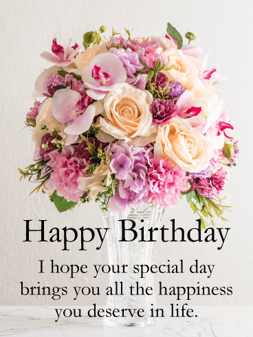 240+ Happy Birthday Flowers with Name (2019) Edit Images