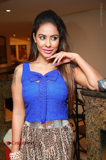 Telugu Actress Srilekha Reddy Latest HD Pos in Sleeveless Blue Top at Muse Art Gallery  0038.JPG