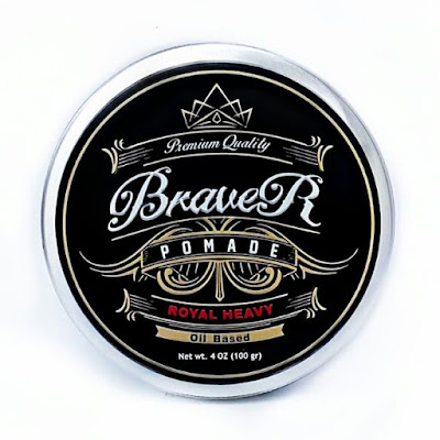 Braver Pomade Type Oil Based Scent Redberry Gum Heavy Hold