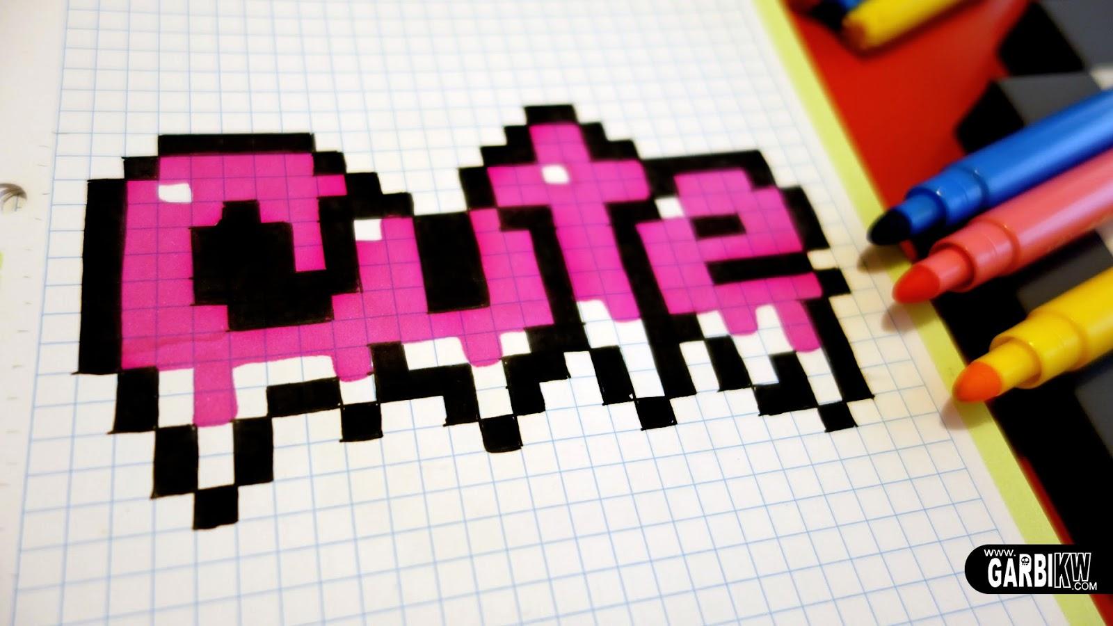 Très Handmade Pixel Art - How To Draw Cute Graffiti #pixelart | Hello  KR94