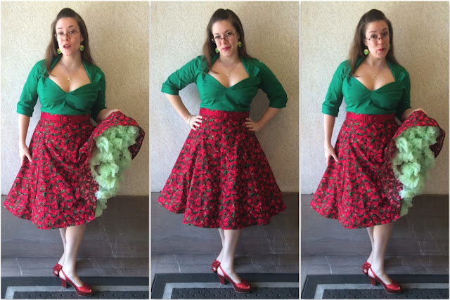heart of haute strawberry skirt