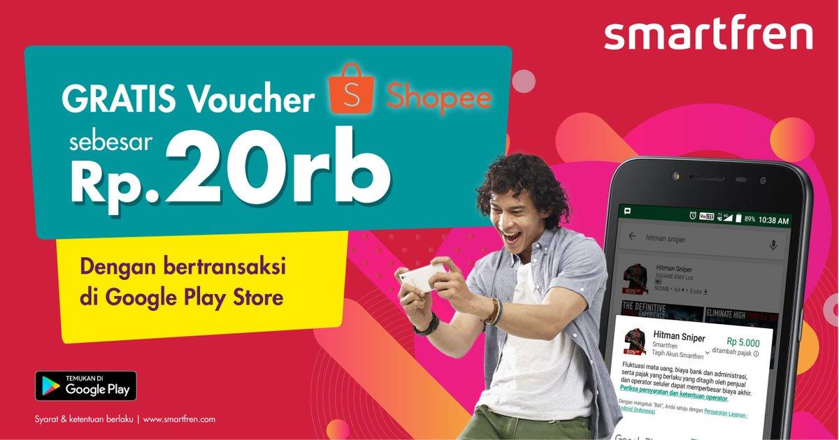 Smartfren - Promo Gratis Voucher 20Ribu di Shopee