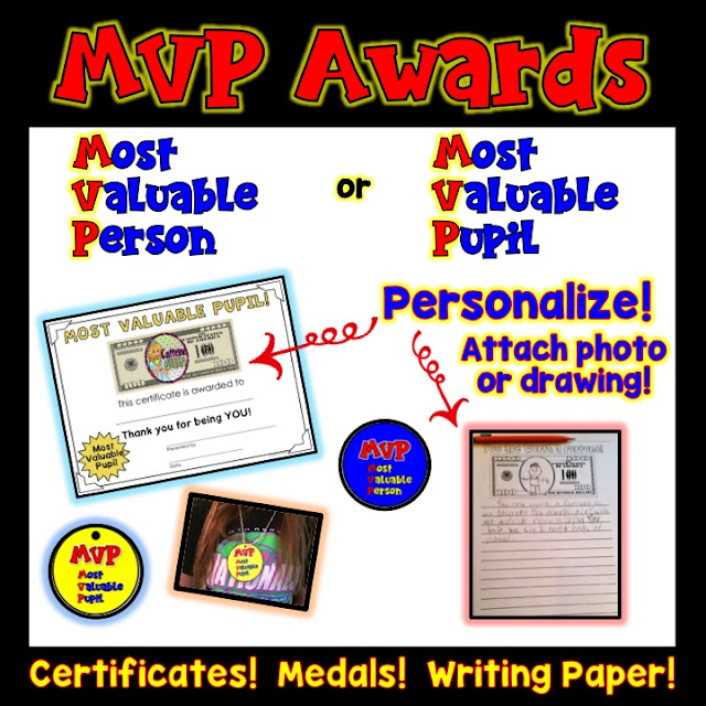 Students personalize their own awards or make them for classmates!