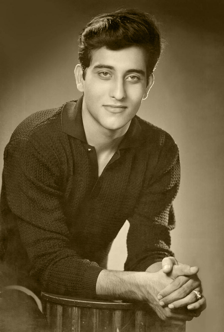 Portrait of Indian Hindi Movie Actor Vinod Khanna